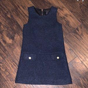 Forever 21 girls 5/6 navy wool blend A line dress
